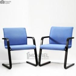 Pareja Sillas Confidentes FS 219/51 WILKHAHN Tela Azul