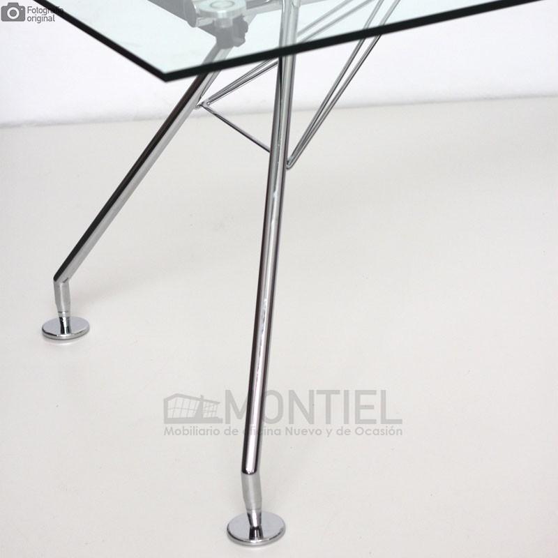 Mesa de estudio cristal Serie 923 180x80 cm