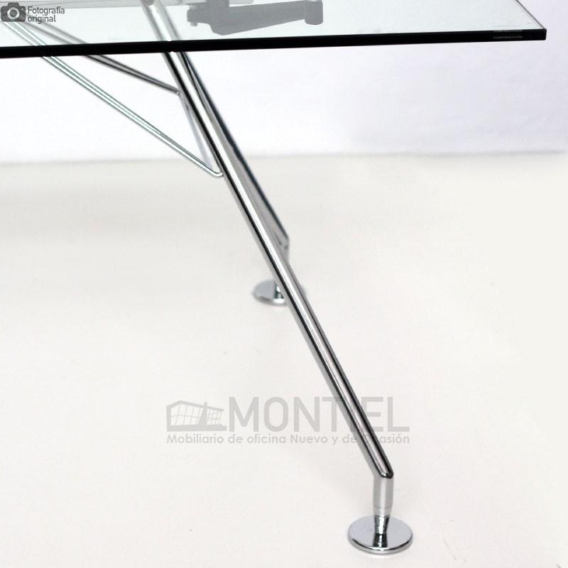 Mesa Oficina Cristal Serie 923 de 220x100 cm
