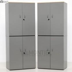 Pack de 2 Armarios dobles metálicos LEVIRA 200 cm.