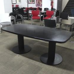 Mesa de Reunión Negra 190 cm