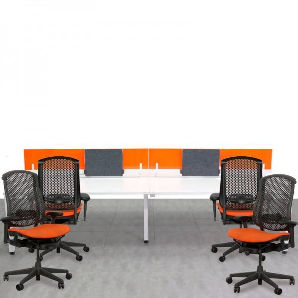 Conjunto de Multipuesto y sillas Herman Miller