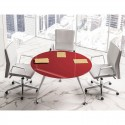 Mesa de Reuniones Redonda de cristal Énosi Evo 156423 de Las Mobili comprar online