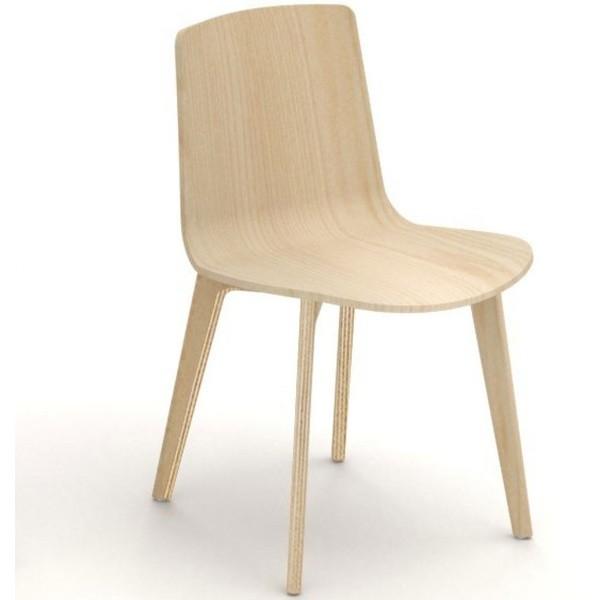 Silla de diseño Lottus Wood de ENEA