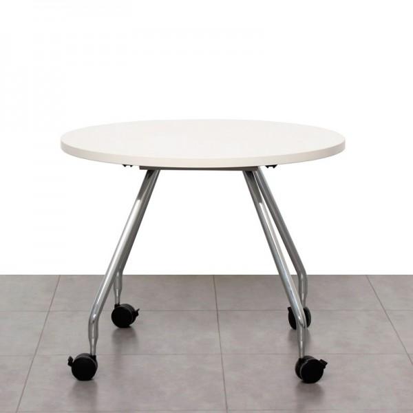 Mesa de Reunión en Blanco 100 cm (Estructura Ad Hoc de Vitra)