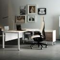 Mesa de Dirección en L con Credencia Serie Teseo de Ismobel comprar online