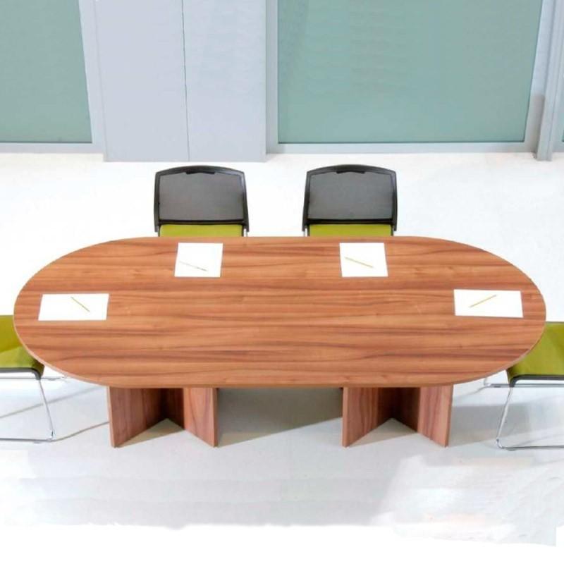 Mesa de Reunión Ovalada Serie NIX Hidra Básica de Limobel