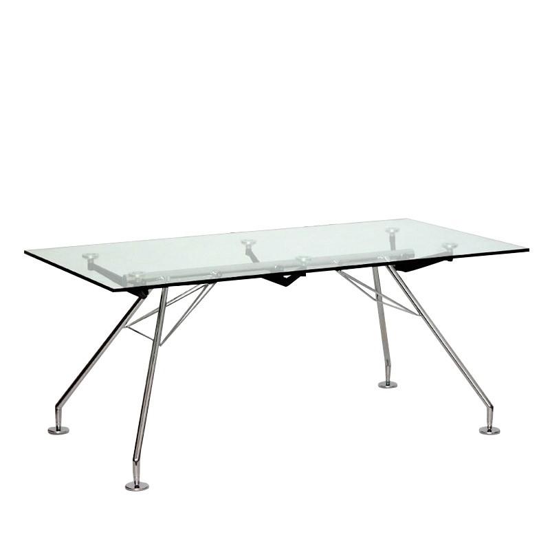 Mesa de Despacho de Cristal Serie 923 180x80 cm