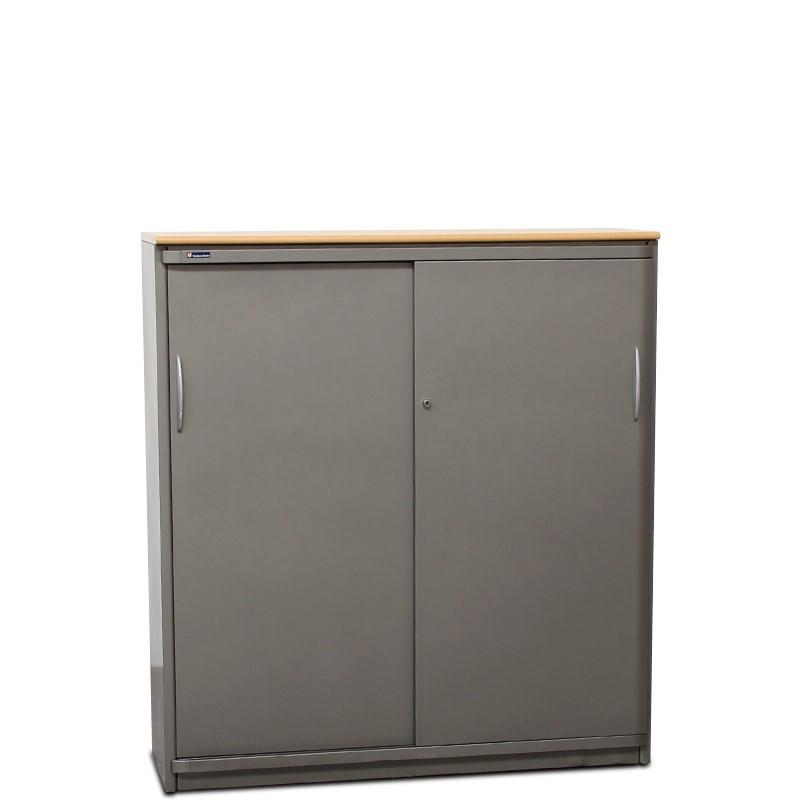 Armario Medio de Oficina con Puertas Correderas de Steelcase