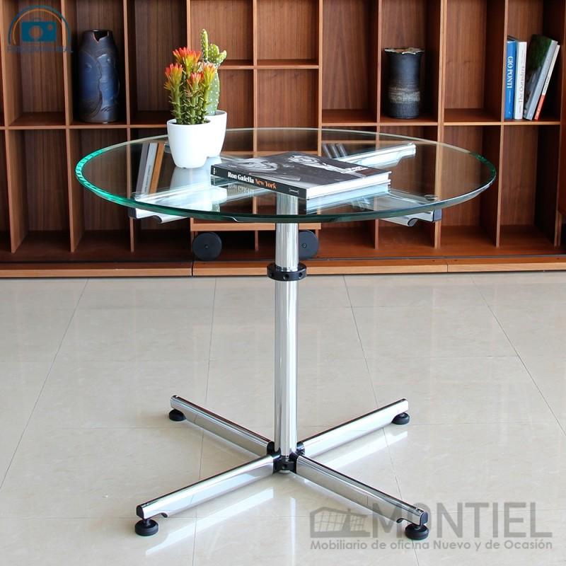 Mesa de diseño redonda con cristal de seguridad de USM Haller