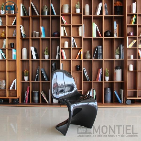 Silla original Panton color negro glossy de vitra