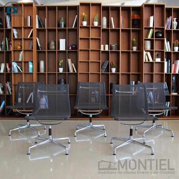 Pack de 5 Sillas Aluminium Chairs EA 105 de Vitra