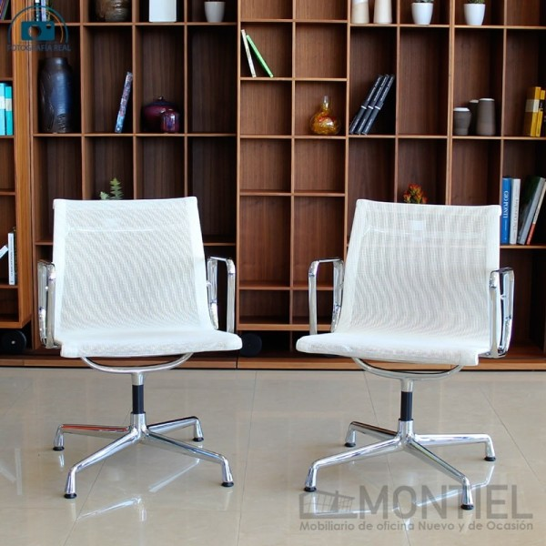 Pack de 2 Sillas Aluminium Chairs EA 108 de Vitra