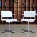 Pack de 2 Sillas Confidente Blancas Respaldo Malla ALINE 232-2 de Wilkhahn comprar online