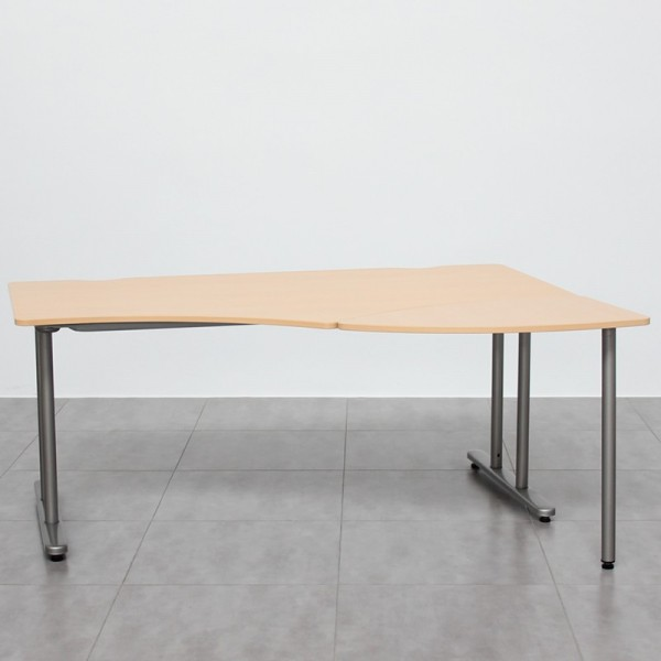 Mesa de Oficina Angular acabado Madera Arce 1+1 de Steelcase
