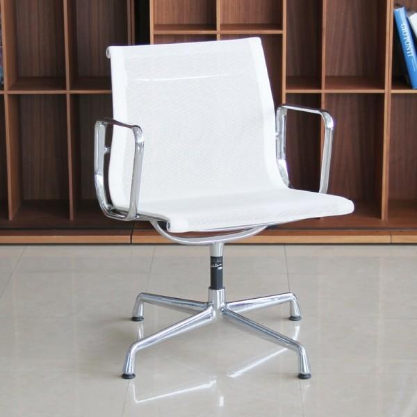 Silla Confidente de Malla Blanca Aluminium Chair EA 108 de Vitra