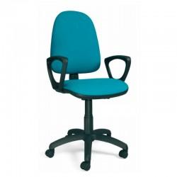 silla giratoria de tela con reposabrazos