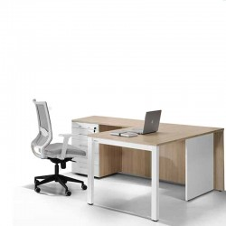 Mesa en L con Cajones para Oficina M4 de Herpesa