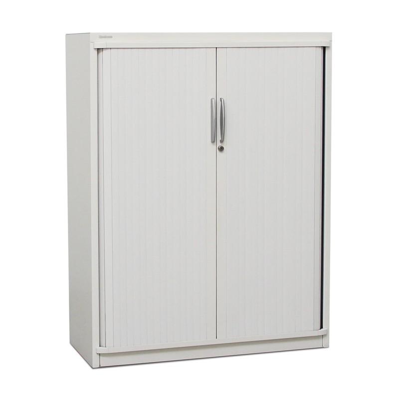 Armario de Oficina Blanco con Puertas de Persiana de Steelcase