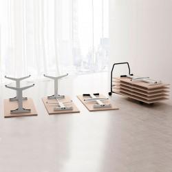 Mesa de Formación Plegable Oyo Tabili Tipo 2 de Las Mobili