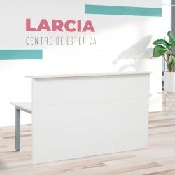 Mostrador Blanco de Recepción para centro de estética