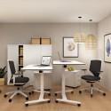 Mesa de Oficina Blanca Elevable y Plegable Talent 500 de Actiu comprar online