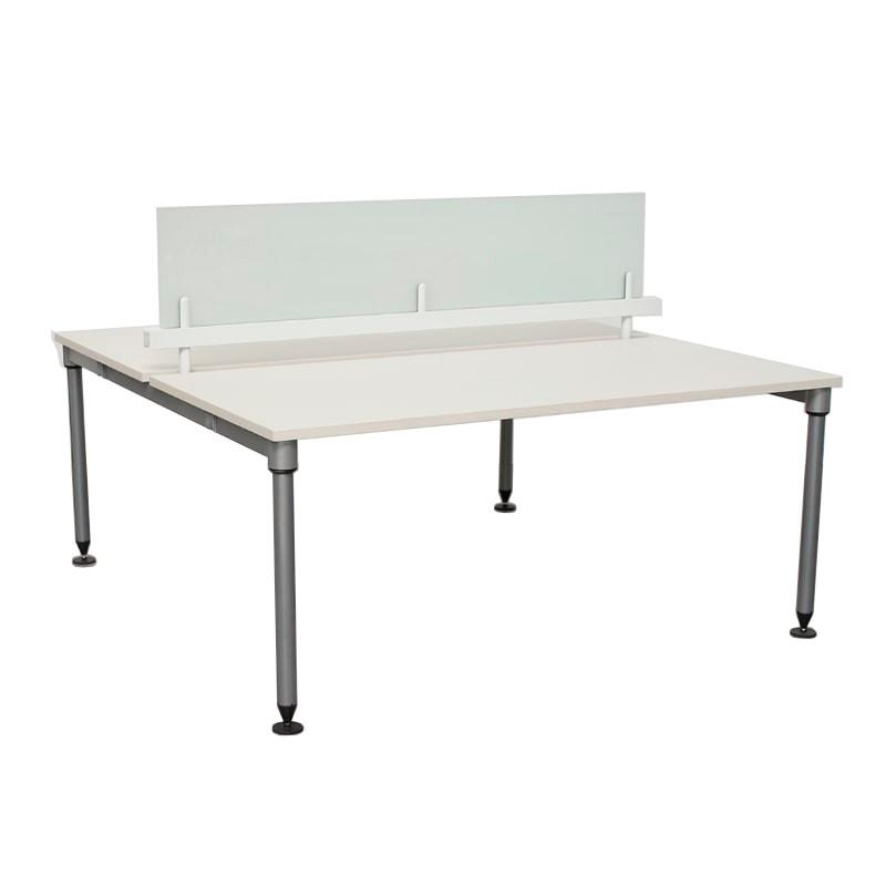 Mesa Multipuesto Blanca 2 Puestos ABAK de Herman Miller