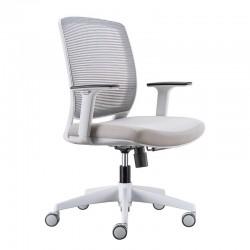 silla blanca escritorio