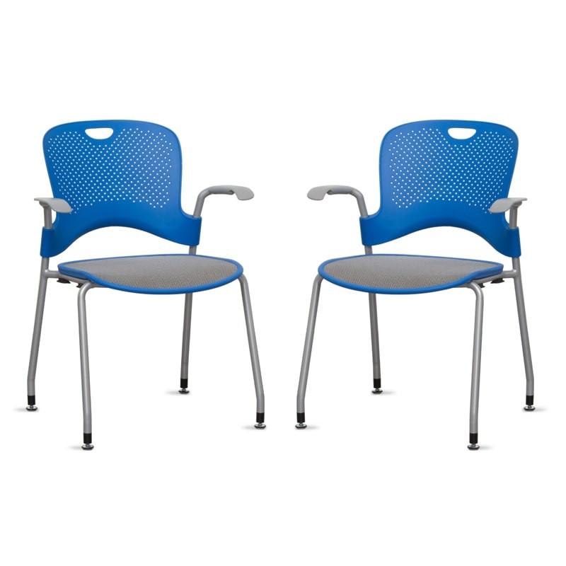 Pack 2 Sillas Confidentes Azules Caper de Herman Miller