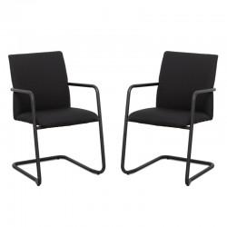 silla confidente negras