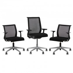 Pack de 3 sillas para Despacho Think de Steelcase