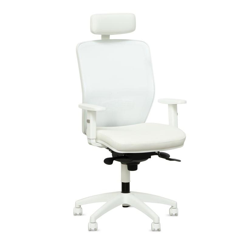 silla oficina blanca
