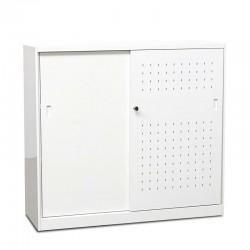 Armario Blanco Metálico Bajo 120x110 cm MM004