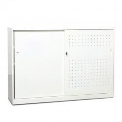 Armario Metálico Blanco Bajo 110x160 cm MM202