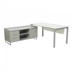 Mesa con Credencia para Oficina MM622