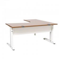 mesa oficina en L con patas blancas