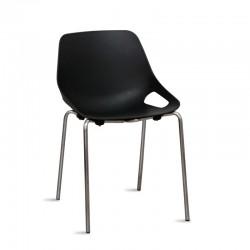 silla negra barata
