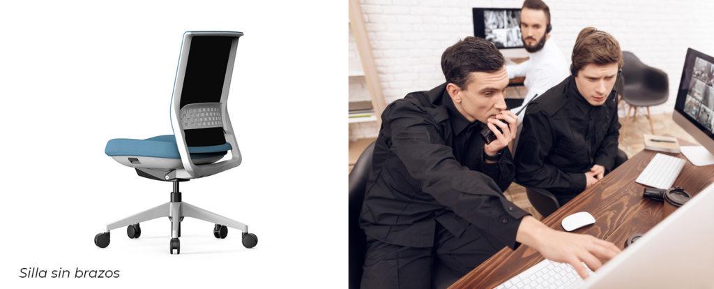 sillas de oficina sin brazos