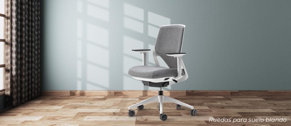 sillas con ruedas para suelos blandos o parquet