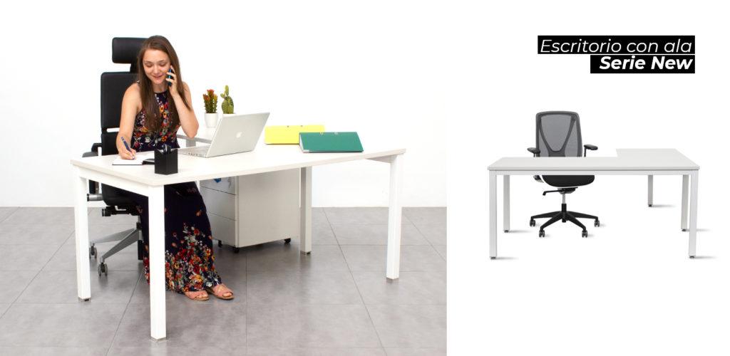 escritorio en L para teletrabajar desde casa