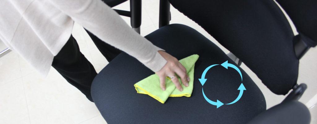 cómo limpiar una silla de oficina