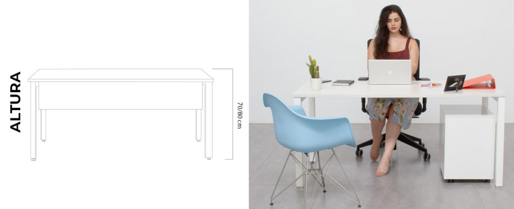 altura ideal mesa de trabajo