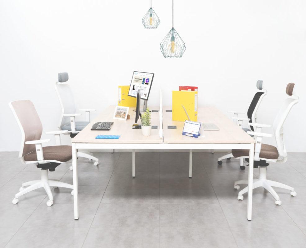 Mesas multipuesto oficinas