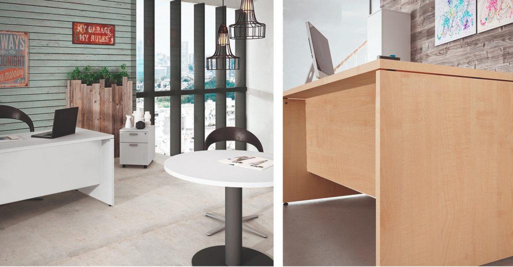 la mesa de trabajo de madera para oficina