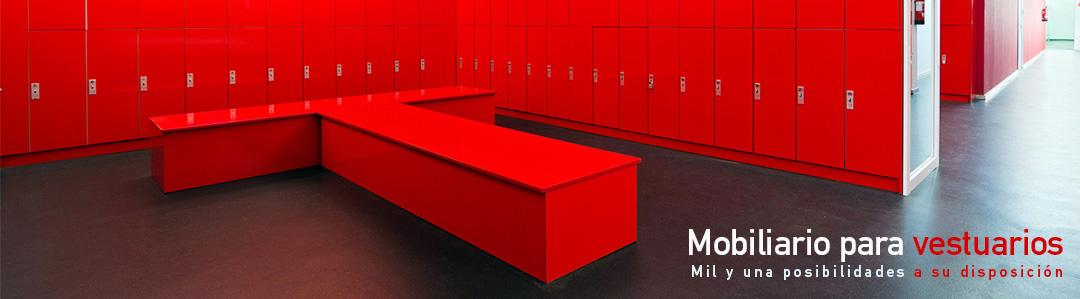 Mobiliario para vestuarios - Muebles Montiel
