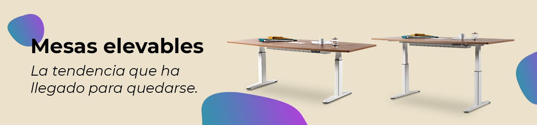 mesas elevables de oficinas