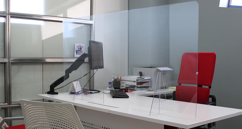 Mampara Zeus ultra transparente para prevenir contagios