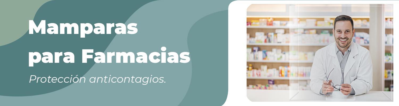 mamparas protección anticontagio para farmacias