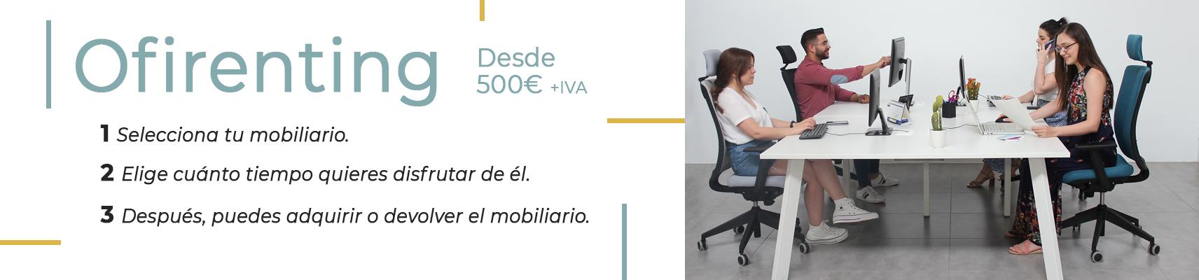 ofirenting es un servicio de renting de mobiliario de oficina para empresas y autónomos