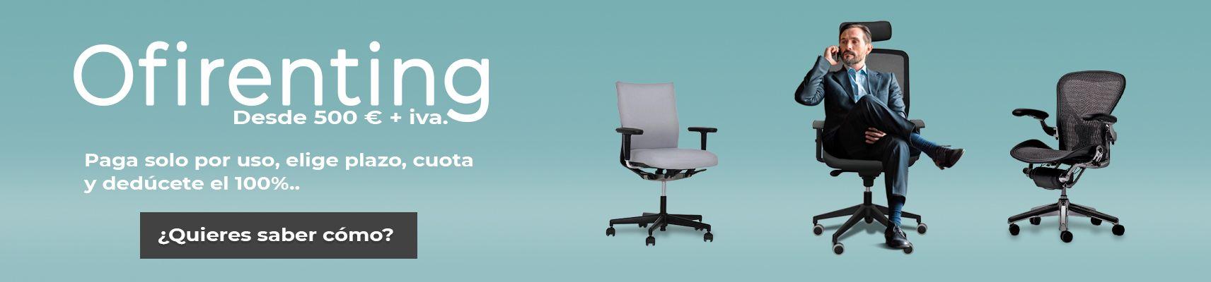 El renting de mobiliario para oficina ofrecido por Oficinas Montiel, muchas ventajas económicas para tu empresa